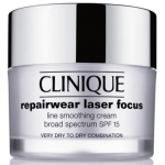 CLINIQUE Repairwear Laser Focus Line Smoothing Cream SPF 15 for Very Dry to Dry Combination Skin