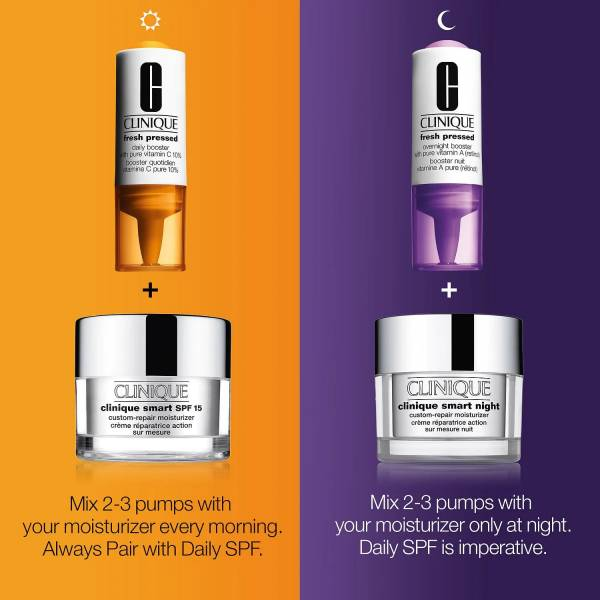 Fresh Pressed Clinical™ Daily + Overnight Boosters with Pure Vitamin C 10% + A (Retinol)